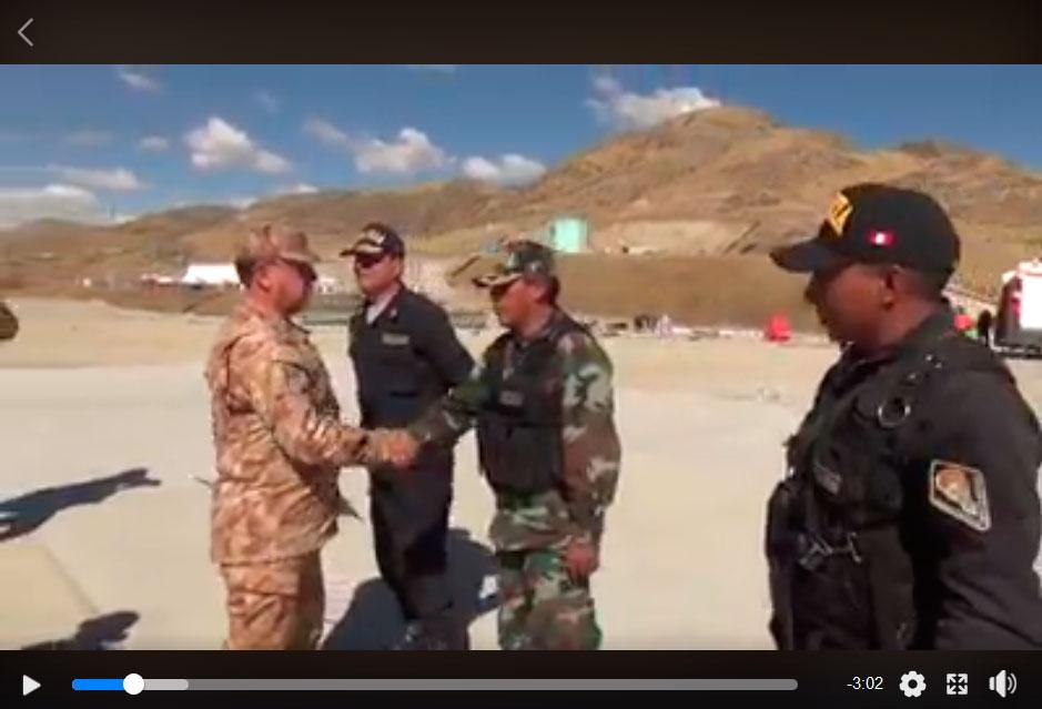 El corredor minero se encuentra militarizado (Fuente: video de las Fuerzas Armadas)
